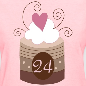 24th Birthday 24 Cake Fun Women's T-Shirts - Women's T-Shirt