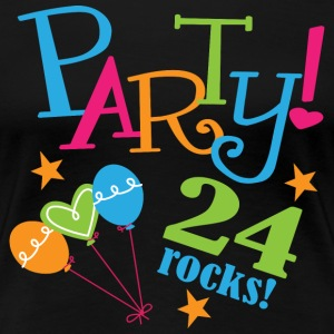 24th Birthday Party 24 Women's T-Shirts - Women's Premium T-Shirt