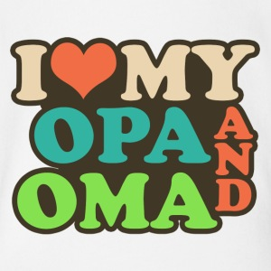 i love my opa and oma Baby Bodysuits - Short Sleeve Baby Bodysuit