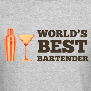 World's Best Bartender Long Sleeve Shirts - Crewneck Sweatshirt
