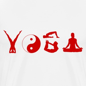 Yoga Typography T-Shirts - Men's Premium T-Shirt