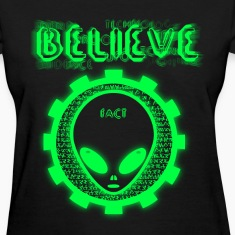 Believe Alien Fact Women's T-Shirts
