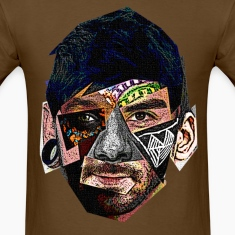 Male Face Fragments T-Shirts