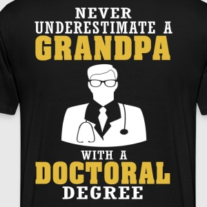 Doctoral Degree Grandpa - Men's Premium T-Shirt