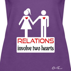 couples-relations-wht Tanks - Women's Premium Tank Top