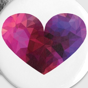 Polygon Heart Buttons - Small Buttons