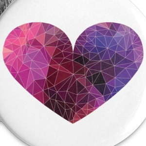Polygon Heart Strokes Buttons - Small Buttons