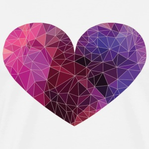 Polygon Heart Strokes T-Shirts - Men's Premium T-Shirt