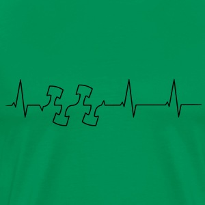 Heartbeat engine pistons Shirt - Men's Premium T-Shirt