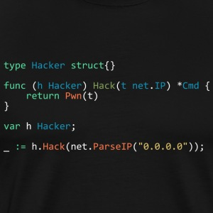 type Hacker struct{} (Black) - Men's Premium T-Shirt