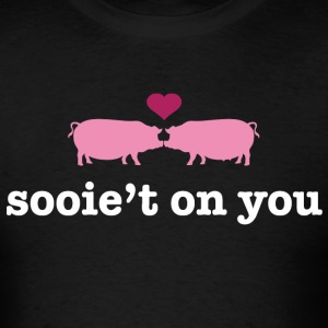 Valentine's Pigs - Sweet on You - Men's T-Shirt