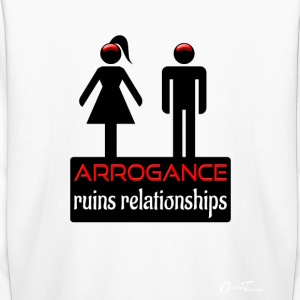couples-arrogance-blk Kids' Shirts - Kids' Long Sleeve T-Shirt
