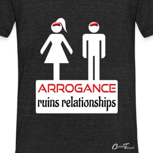 couples-arrogance-wht T-Shirts - Unisex Tri-Blend T-Shirt