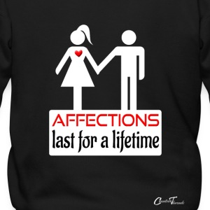 couples-affection-wht Zip Hoodies & Jackets - Men's Zip Hoodie