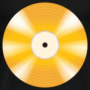 golden vinyl record - Men's Premium T-Shirt