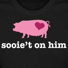 Valentine's Pig Couple - Sweet on Him