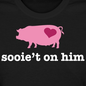 Valentine's Pig Couple - Sweet on Him - Women's T-Shirt