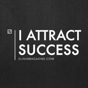 Elisia Magazine: I Attract Success - White  Bags & backpacks - Tote Bag