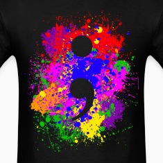 Paint Splatter Semicolon T-Shirts