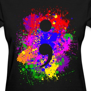 Paint Splatter Semicolon Women's T-Shirts - Women's T-Shirt