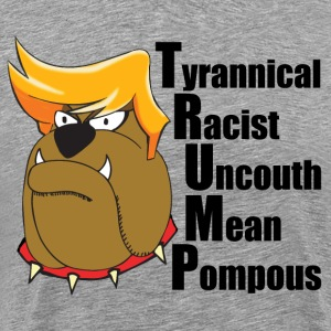 Funny Anti Trump Cartoon - Men's Premium T-Shirt