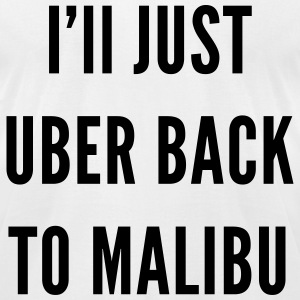Malibu Uber - Men's T-Shirt by American Apparel