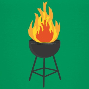 BBQ on Fire Kids' Shirts - Kids' Premium T-Shirt