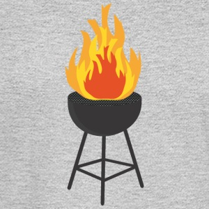 BBQ on Fire Long Sleeve Shirts - Men's Long Sleeve T-Shirt
