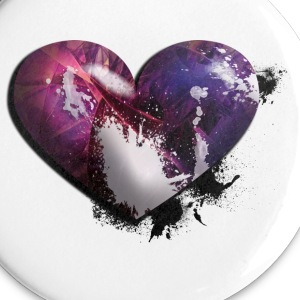 splatter heart Buttons - Small Buttons
