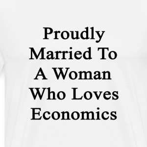 proudly_married_to_a_woman_who_loves_eco T-Shirts - Men's Premium T-Shirt