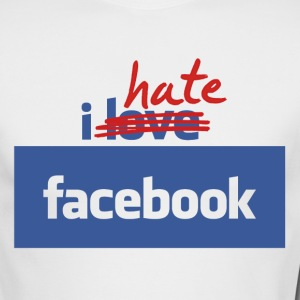 I Hate Facebook - Long Sleeve Tee - Men's Long Sleeve T-Shirt by Next Level