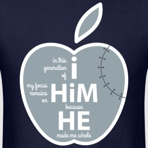 He Made Me Whole, Apple - Men's T-Shirt
