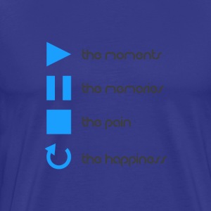 Play Grey Blue - Men's Premium T-Shirt