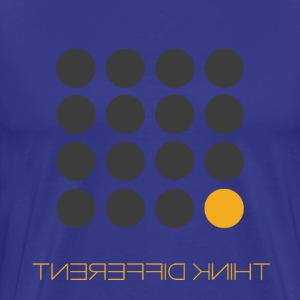 Think Different Grey Yellow - Men's Premium T-Shirt