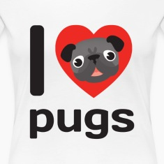 I LOVE PUGS Women's T-Shirts