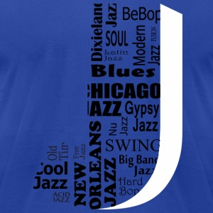 Jazz T-Shirts - Men's T-Shirt by American Apparel