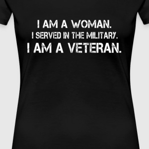 Woman Veteran - Women's Premium T-Shirt