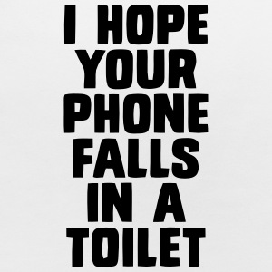 I HOPE YOUR PHONE FALLS IN A TOILET Baby Bibs - Baby Bib