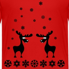 elk moose caribou deer elks snowflakes Baby & Toddler Shirts