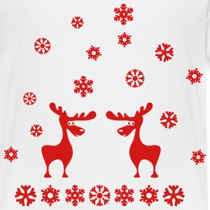 elk moose caribou deer elks snowflakes Baby & Toddler Shirts - Toddler Premium T-Shirt