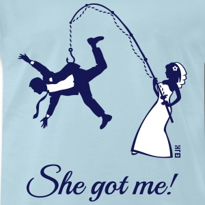 She Got Me! (Groom / Stag Party / Bachelor Party) T-Shirts - Men's Premium T-Shirt