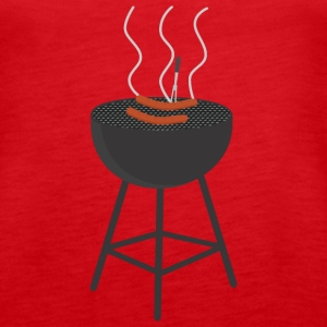 BBQ with sausages Tanks - Women's Premium Tank Top