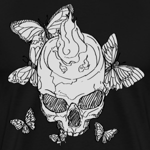 skull and butterfly - Men's Premium T-Shirt