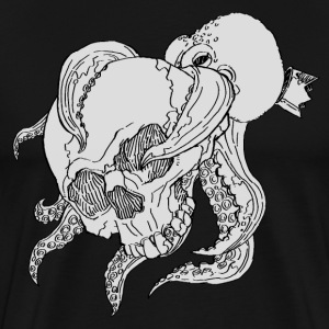 skull and octopus - Men's Premium T-Shirt