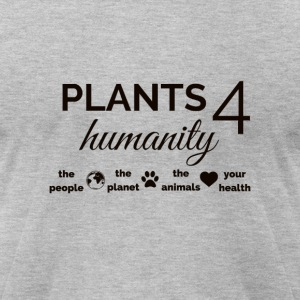 Plants 4 Humanity black design T-Shirts - Men's T-Shirt by American Apparel