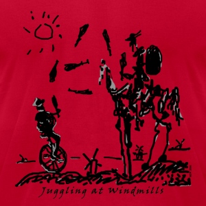 Juggling at Windmills T-Shirt (American Apparel) - Men's T-Shirt by American Apparel