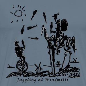 Juggling at Windmills T-Shirt (Spreadshirt Brand) - Men's Premium T-Shirt