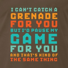 Funny Gamer Geek Love T-shirt I'd Pause My Game
