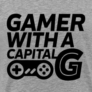 Cool Gaming Geek T-shirt Gamer with Capital G - Men's Premium T-Shirt