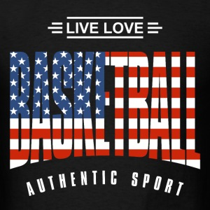 Live Love Basketball US  - Men's T-Shirt